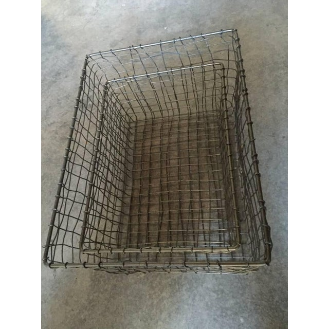 French Wire Vintage Style Market Baskets- Set of 3 - Image 4 of 11