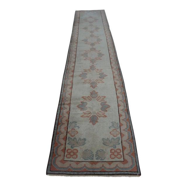 Oriental Handmade Runner Rug - 2′5″ × 11′4″ For Sale