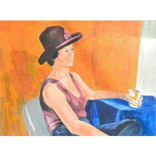 Bay Area Figurative Movement Portrait by Patricia Gren Hayes For Sale