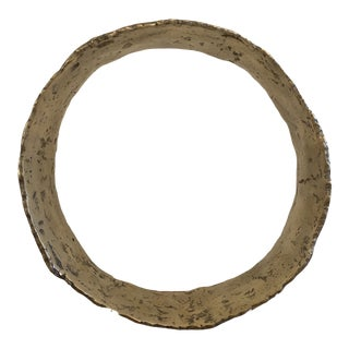 "Hand Forged Solid Brass Circle Sculpture 12"" For Sale"
