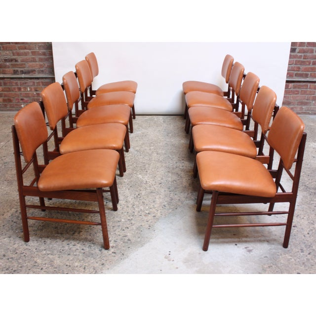 Set of ten walnut dining chairs (Model no. 6260) designed in 1952 by Greta Magnusson Grossman for Glenn of California....