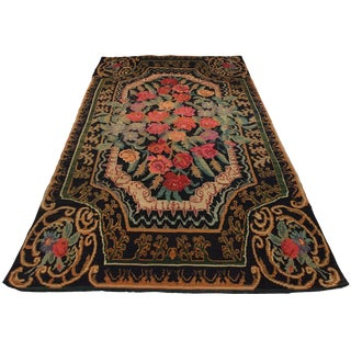 Vintage Floral Rose Kilim | 6'6 X 12 For Sale