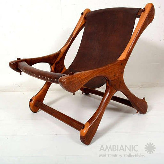 Don Shoemaker Sling Chair Attributed to Don Shoemaker For Sale - Image 4 of 11