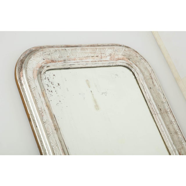 Late 19th Century Louis Philippe Silvered Mirror For Sale - Image 5 of 9