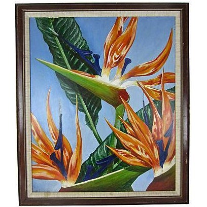 """""""Birds of Paradise"""" Oil Painting by Sally Gelley - Image 1 of 4"""