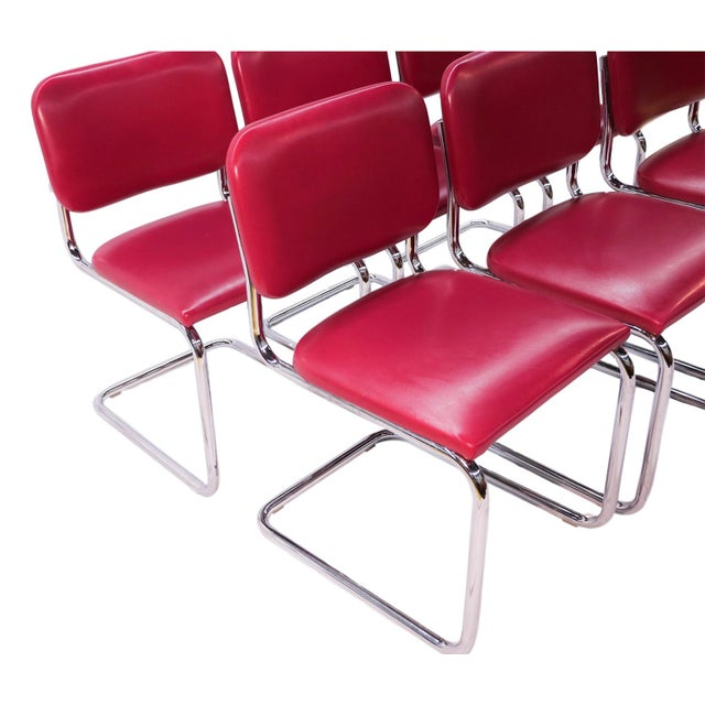 Loewenstein Mid-Century Chrome Cantilever Chairs - Set of 6 - Image 2 of 9