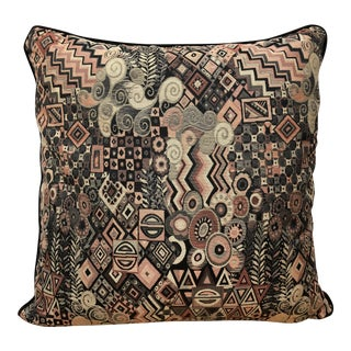 Oversize 1980s Vienna Secession Style Pillow For Sale