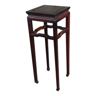Chinese Antique Hand Carved Redwood Stand For Sale