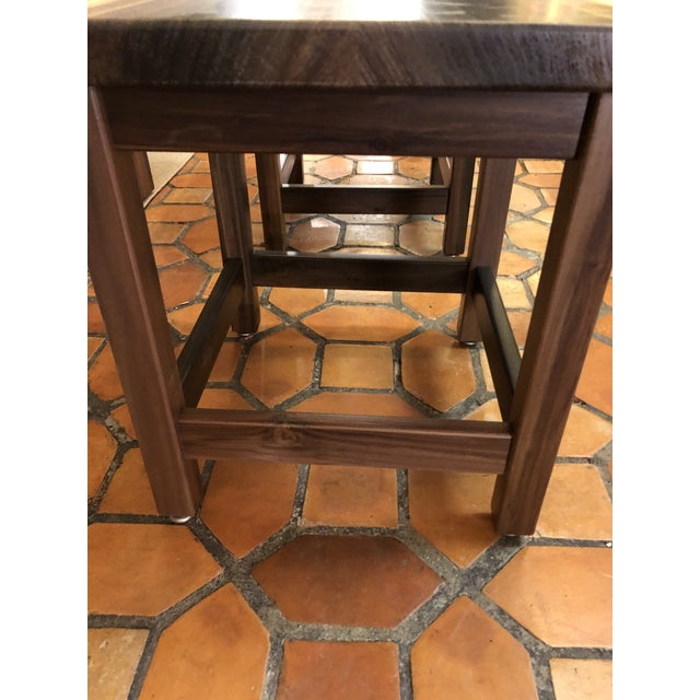 Contemporary Artisan Made Amish Custom Poplar End Tables -A Pair For Sale - Image 3 of 11