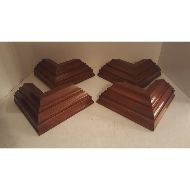 Vintage Wood Wall Mount Candle Holders - Set of 4 For Sale - Image 4 of 7