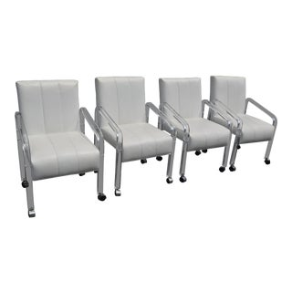 1970s Vintage Lucite Dining Chairs - Set of 4 For Sale