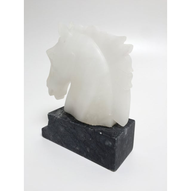 White Vintage Alabaster Horse Head Bookends - A Pair For Sale - Image 8 of 10