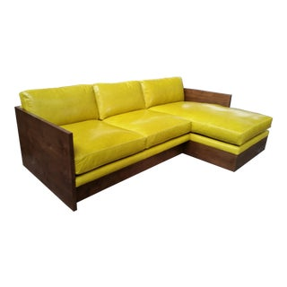 The Norton Mid Century Styled Sectional Chaise Sofa For Sale