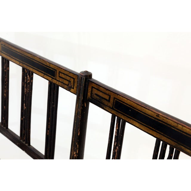Early 19th Century Regency Caned Settee For Sale - Image 5 of 12