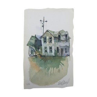 """""""Dakota Farm"""" Original Watercolor Painting For Sale"""