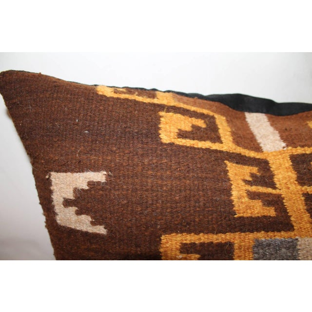 Navajo Rare Early Navajo Saddle Blanket Pillow For Sale - Image 3 of 4