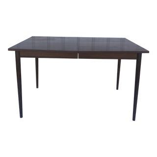Mid Century Modern Walnut Dining Table by Stanley Furniture For Sale