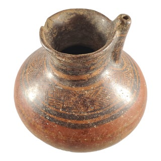 Native American Pottery Jug For Sale