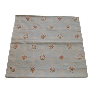 19th Century Silk Brocade Floral Gold and Celadon Textile Panel For Sale