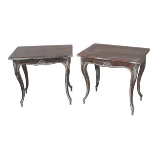 Early 20th Century Louis XV Style End Tables - a Pair For Sale
