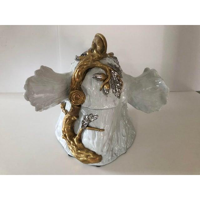 A superb 1960's Magnani porcelain wild boar tureen designed by Florentine creamiest Giulia Magnani. Magnani is...