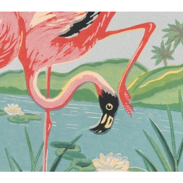 Vintage Mid-Century Flamingo Painting By M. Devoe For Sale - Image 5 of 10