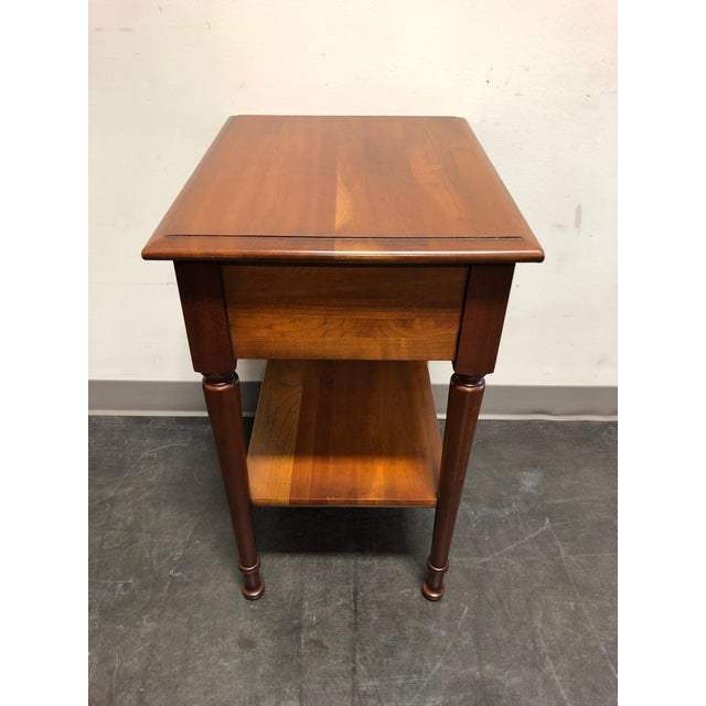 Solid Cherry Chippendale Nightstand by Cherry Hill Collection For Sale In Charlotte - Image 6 of 12