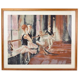 """Ballet Students in Dance Studio"" Interlude L/E Color Lithograph by Ruth Weisberg For Sale"