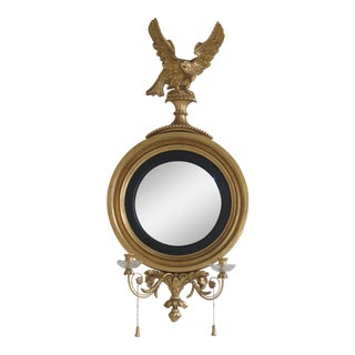 Friedman Brothers Colonial Williamsburg CW-2 Bullseye Girandole Mirror