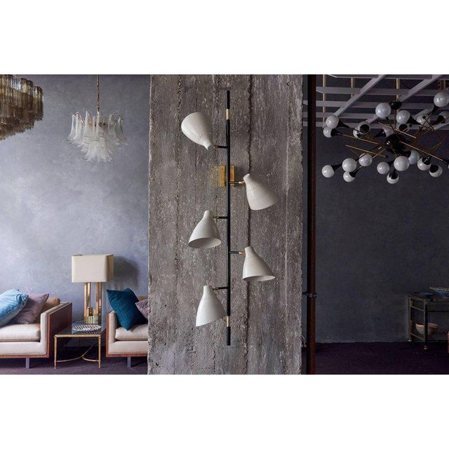 Mid-Century Modern Stunning Pair of Italian Wall Lamps or Sconces For Sale - Image 3 of 7