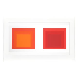 Josef Albers - Portfolio 2, Folder 28, Image 2 Framed Silkscreen For Sale