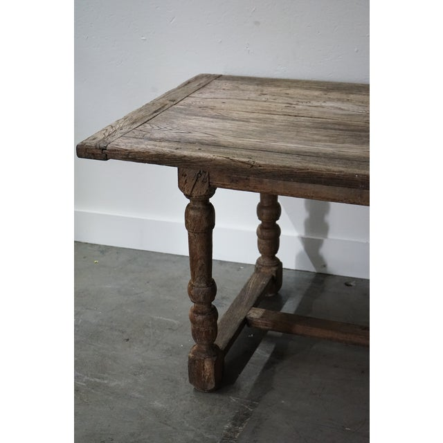 Antique Oak Dining Table For Sale - Image 9 of 10