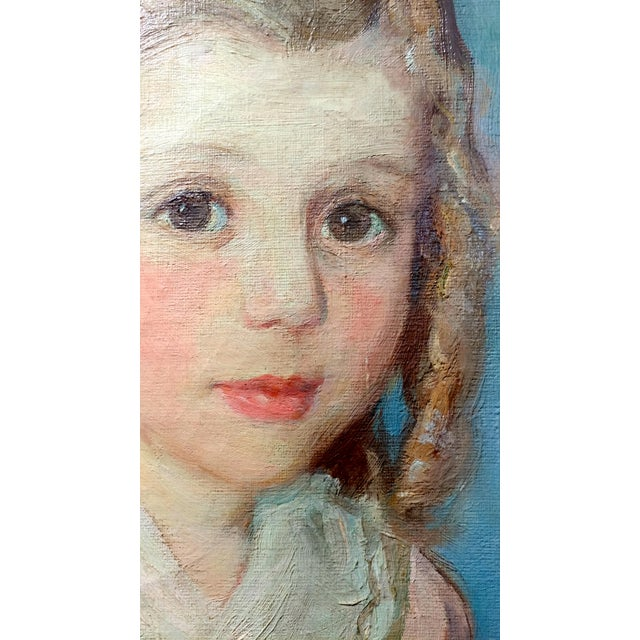 Olive Rush Portrait of Louise Block Oil Painting, C. 1900s For Sale In Los Angeles - Image 6 of 10