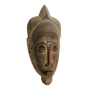 """African Baule Portrait Mask Cote d'Ivoire 11"""" H For Sale"""