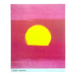 "Andy Warhol Foundation Rare Pop Art Sunset Series Poster Print "" Pink Sunset "" 1972 For Sale"