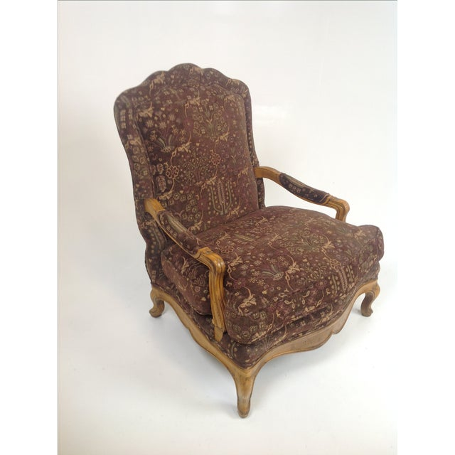 Baker Country French Lounge Chair & Ottoman - Image 7 of 8