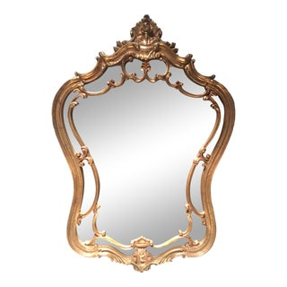 Vintage Rococo Resin Frame Wall Mirror For Sale