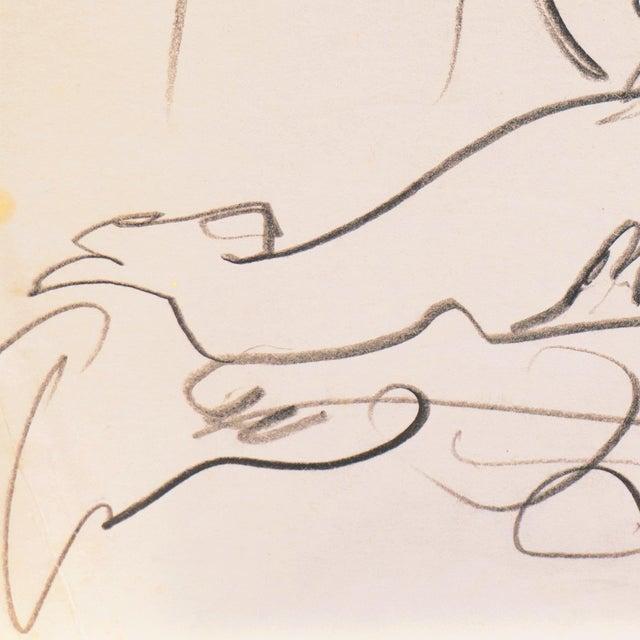Impressionist Reclining Nude' by Victor DI Gesu, California Post-Impressionist, Louvre, Paris, Carmel, Lacma, Sfaa For Sale - Image 3 of 7