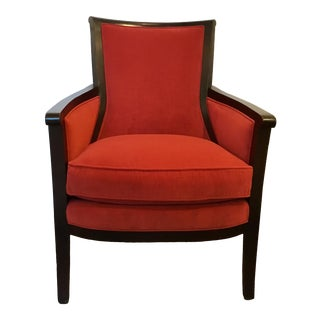 Transitional Hickory Chair Red Beck Lounge Chair For Sale