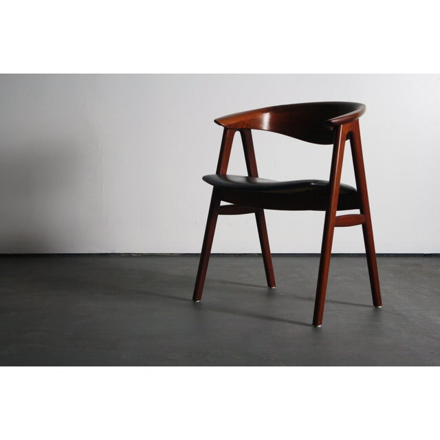 Erik Kirkegaard Teak Compass Sculpted Desk Chair For Sale - Image 5 of 8