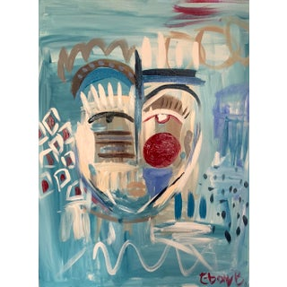 """""""After The Love Is Gone"""" Contemporary Abstract Face Acrylic Painting by Ebony Boyd For Sale"""