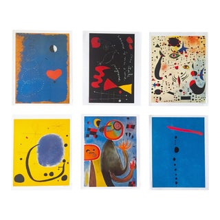Joan Miro Rare Vintage 1996 Iconic Spanish Surrealist Lithograph Print Poster Folio - Set of 6 For Sale