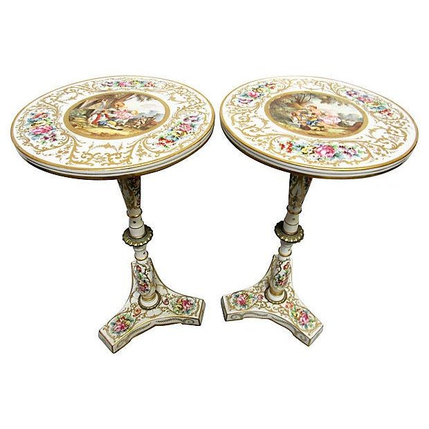 French Sevres Style Tables - A Pair - Image 1 of 7