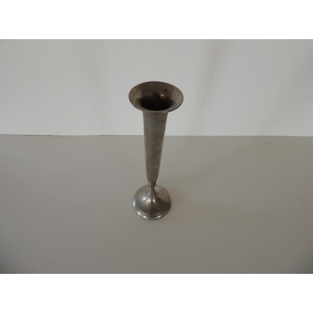 "Silver Plated Small Bud Vase Size:2""D x 7""H"