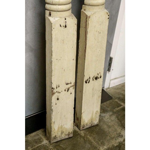 Wood Pr. American Facade Half Columns For Sale - Image 7 of 10
