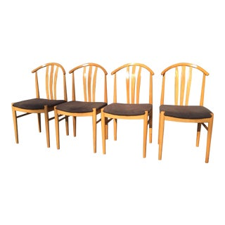 4 Dining Chairs Swedish Mid Century Modern For Sale