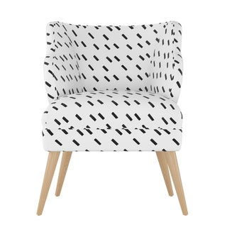 Modern Chair in Charcoal Dash White Oga For Sale