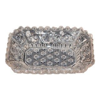 19th Century Lacy Sandwich Glass Dish Eapg For Sale