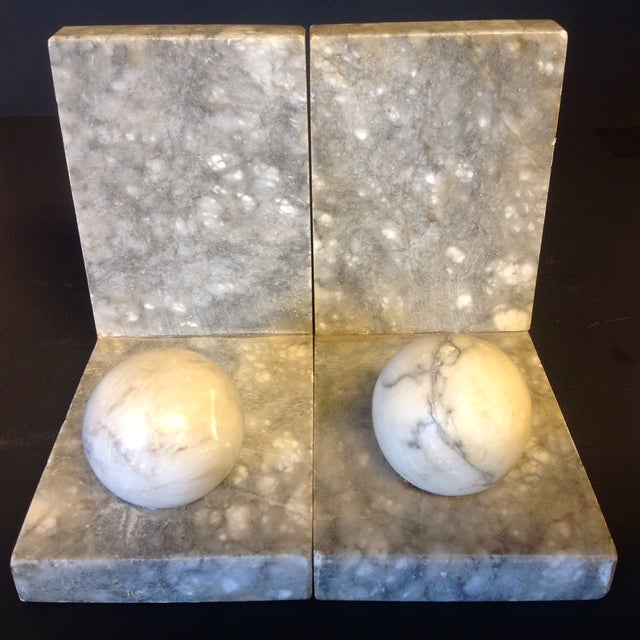 Italian Minimalist Marble Bookends - A Pair - Image 5 of 5