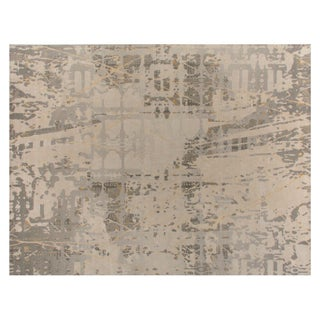 Stark Studio Rugs Contemporary New Oriental Tibetan Wool Rug - 9′ × 12′ For Sale
